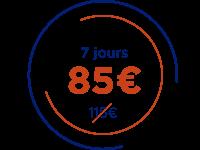 7 jours 85 €