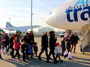 Le vol du Père Noël avec Air Transat et Petits Princes