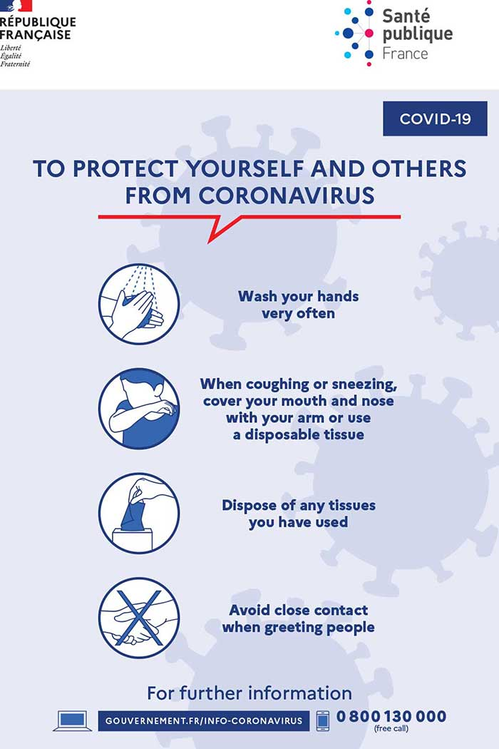 Coronavirus airport measures france paris