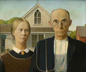Grant wood american gothic 2016