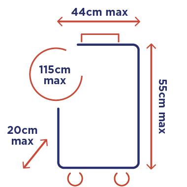 poids et dimensions des bagages en cabine