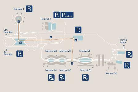 Парковки в аэропорту Шарль де Голль, Париж