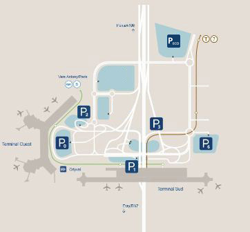 Picture carte parking aeroport paris orly