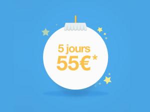Promo parking 5 jours 55 €