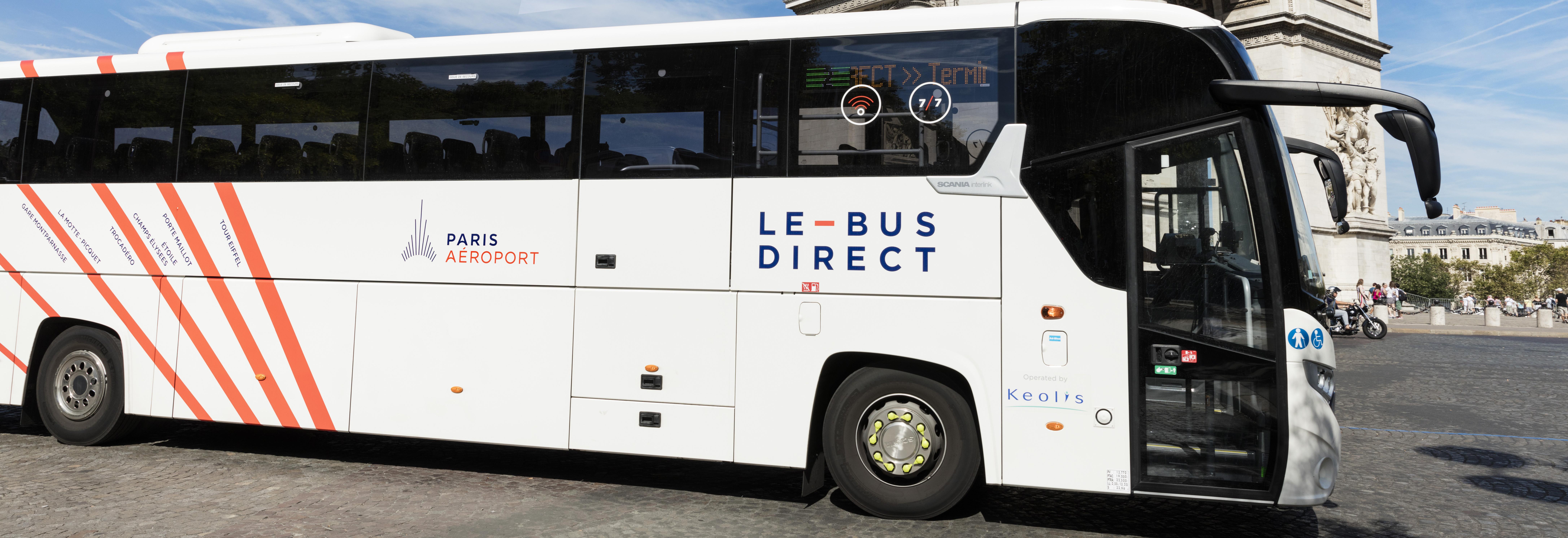 Le Bus Direct Reliez Paris A Paris Cdg Ou Orly Paris Aeroport