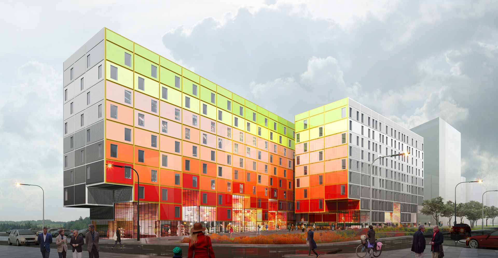 Aloft & Element 1 - copyright Manuelle Gautrand Architecture